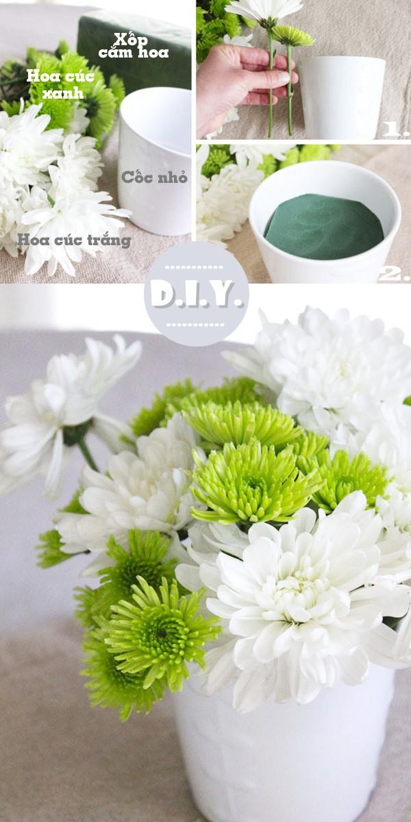 cách cắm hoa đơn giản